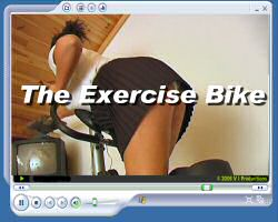 The exercise bike spankings