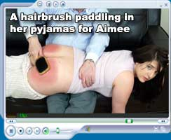 hiarbrush and slipper spanking for Aimee