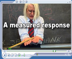 a measured response - at Hidefspanking.com