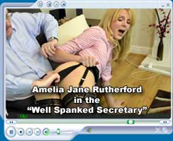 "Amelia Jane Rutherford in the ""Well Spanked Secretary"""