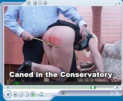 Emma Brown caned panties down