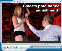 Chloe's pole dance punishment