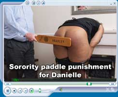 Danielle sorority paddling