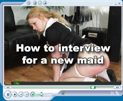 New maid spanked