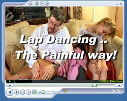 Lap dancing double spanking