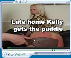 Late home Kelly paddled red