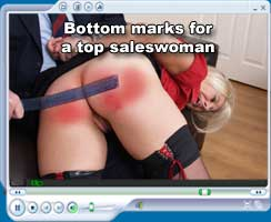 Bottom marks for a top saleswoman