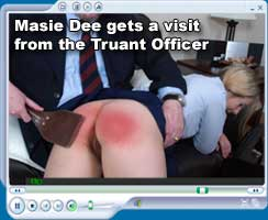 Masie Dee gets  avisit from the Truant Officer