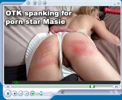 otk spanking for porn star masie