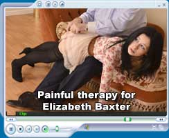 Painful therapy for Elizabeth Baxter