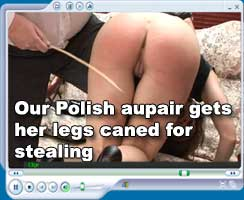 Polish aupai Kami caned - at Hidefspanking.com