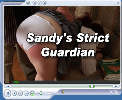 sandy's strict guardian spanks her