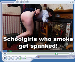 schoolgirsl who smoke get spanked - at Hidefspanking.com