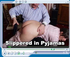 schoolgirl slippered - at Hidefspanking.com