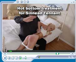 Sinnead Tennnat gets a blistering bare bottom spanking