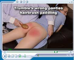 Trumble's wrong panties hairbrush paddling